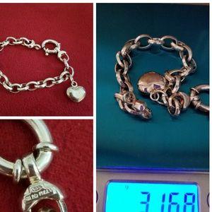Jewelry - SILVER 925 BRACELET WITH HEART CHARM